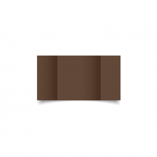 Small Square Gatefold Mocha Brown Card Blanks