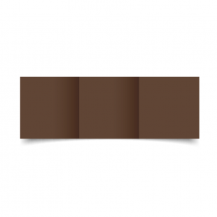 Small Square Trifold Mocha Brown Card Blanks