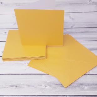 Mustard Gold Card Blanks & Envelopes - Pack of 10