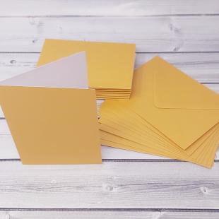 Mustard Gold C6 Card Blanks & Envelopes - Pack of 10