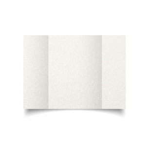 A5 Gatefold Natural White Pearlised Card Blanks