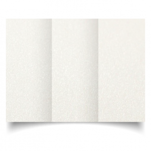 DL Trifold Natural White Pearlised Card Blanks