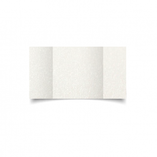 Large Square Gatefold Natural White Pearlised Card Blanks