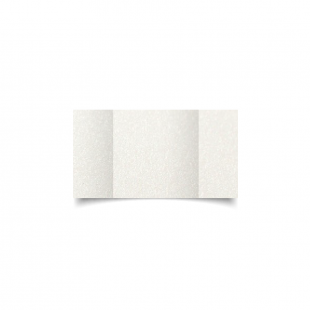 Small Square Gatefold Natural White Pearlised Card Blanks