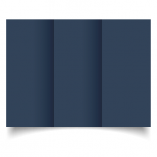 DL Trifold Navy Card Blanks