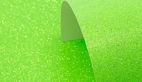 Neon Green Glitter Card 220gsm