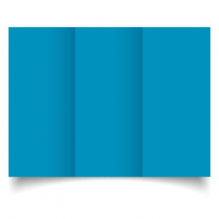 DL Trifold Ocean Blue Card Blanks