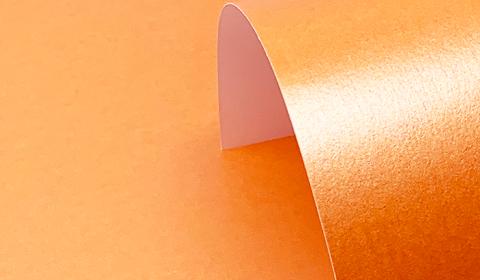 Orange Centura Pearl Card One Sided- 285gsm