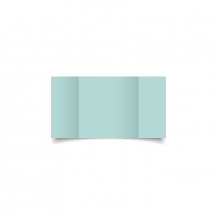 Small Square Gatefold Pale Turquoise Card Blanks
