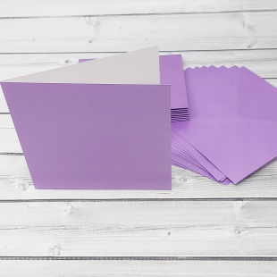 Periwinkle Purple Square Card Blanks & Envelopes - Pack of 10