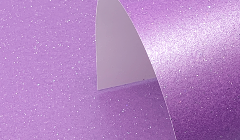 Periwinkle Purple Pure Pearl Sparkle Card Single Sided 300gsm
