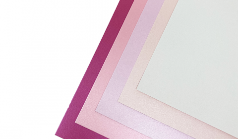 """Pink Pearlised Mixed Card Pack 12"""" x 12"""" 