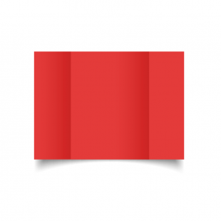 A5 Gatefold Post Box Red Card Blanks