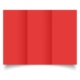 DL Trifold Post Box Red Card Blanks