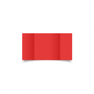 Small Square Gatefold Post Box Red Card Blanks
