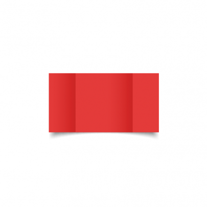 Post Box Red Small Square Gate Fold Card Blank 01