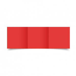 Small Square Trifold Post Box Red Card Blanks