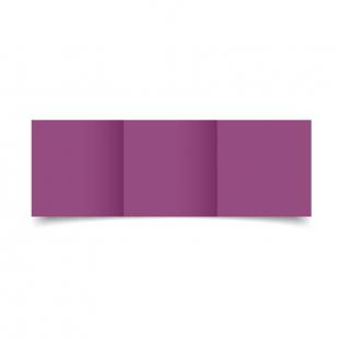 Small Square Trifold Purple Grape Card Blanks
