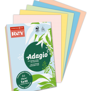 A4 (210x297mm) Rey Adagio Pastel Mix 160gsm | 250 Sheets