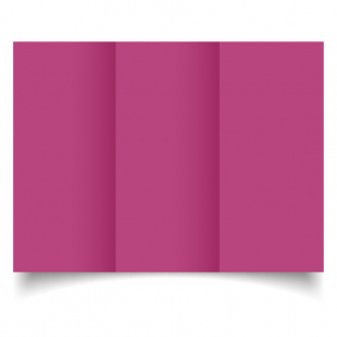 DL Trifold Raspberry Pink Card Blanks