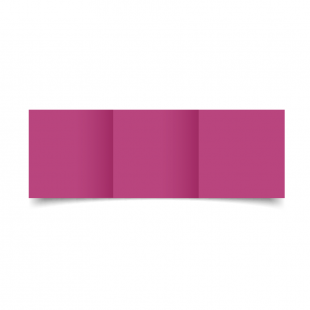 Small Square Trifold Raspberry Pink Card Blanks