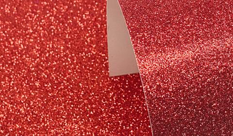 Red Glitter Card 220gsm