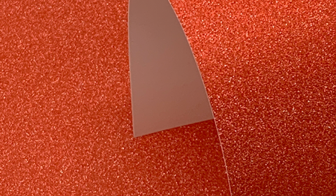 Red Non-Shedding Glitter Card 285gsm