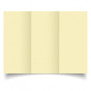 DL Trifold Rich Cream Hammered Card Blanks