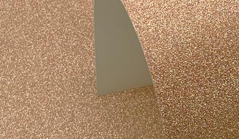 Rose Gold Non-Shedding Glitter Card 285gsm