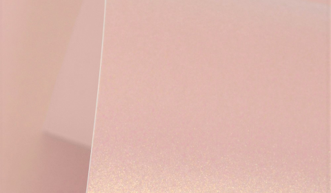 Rose Gold Pure Pearl Double Sided Card 300gsm