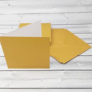 Royal Gold 148mm Square Card Blanks & Envelopes - Pack of 10
