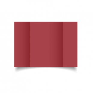 A5 Gatefold Ruby Red Card Blanks