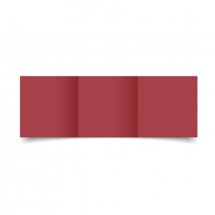 Small Square Trifold Ruby Red Card Blanks