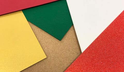 Seasonal Pack of Traditional Christmas Cardstock A4   10 sheets