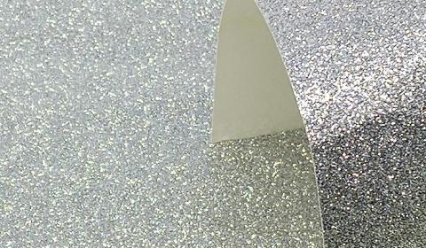 Silver Glitter Card 220gsm