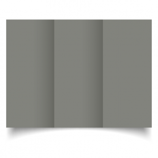 DL Trifold Slate Grey Card Blanks