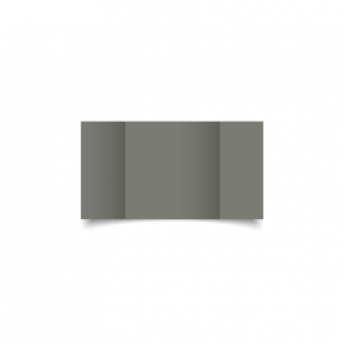Small Square Gatefold Slate Grey Card Blanks