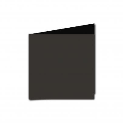 Small  Square  Card  Blank  Black  Smooth