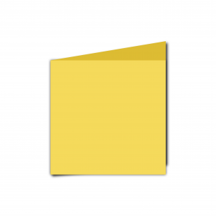 Small Square Daffodil Yellow Card Blanks