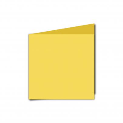 Small  Square  Card  Blank  Daffodil  Yellow