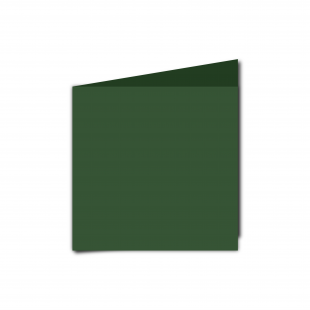 Small Square Dark Green Card Blanks
