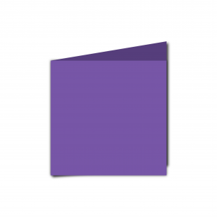 Small Square Dark Violet Card Blanks