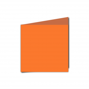 Small Square Mandarin Orange Card Blanks