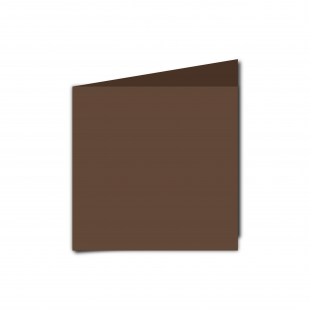 Small Square Mocha Brown Card Blanks