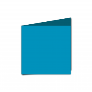 Small Square Ocean Blue Card Blanks