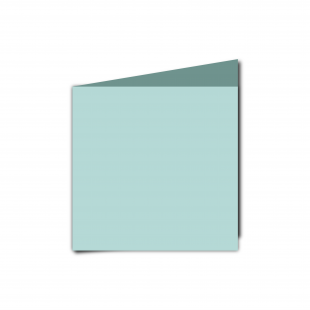 Small Square Pale Turquoise Card Blanks