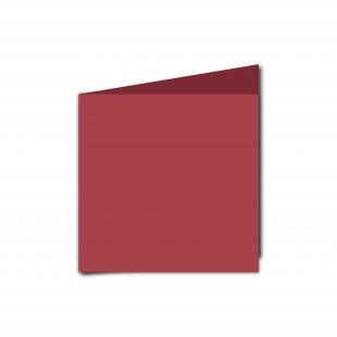 Small Square Ruby Red Card Blanks