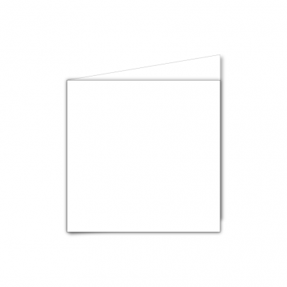 Small Square Card Blank White 01