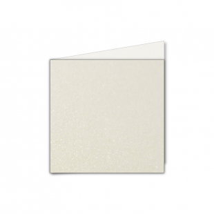 Small Square Ivory Pearlised Card Blanks