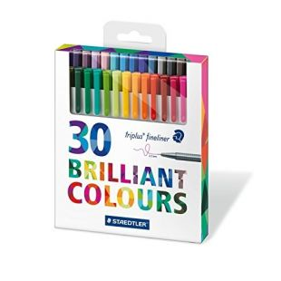 Staedtler Triplus Fineliner Pens 0 3Mm Assorted Pack Of 30 334 C30